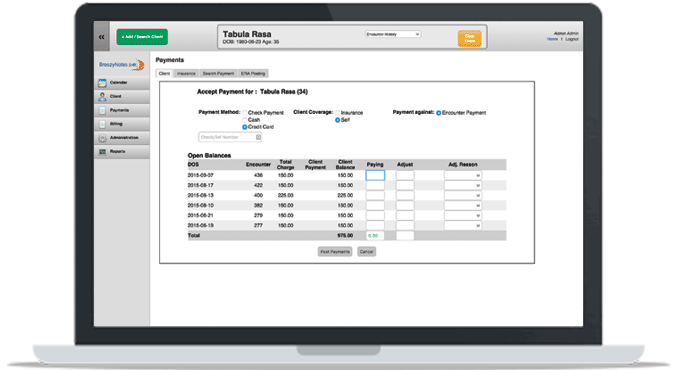BreezyNotes EHR makes billing easy